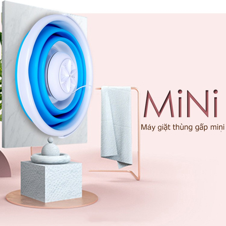 OT23 Thùng giặt máy giặt mini có thể gấp gọn tua bin xoáy tiếng ồn thấp máy giặt cỡ nhỏ mini