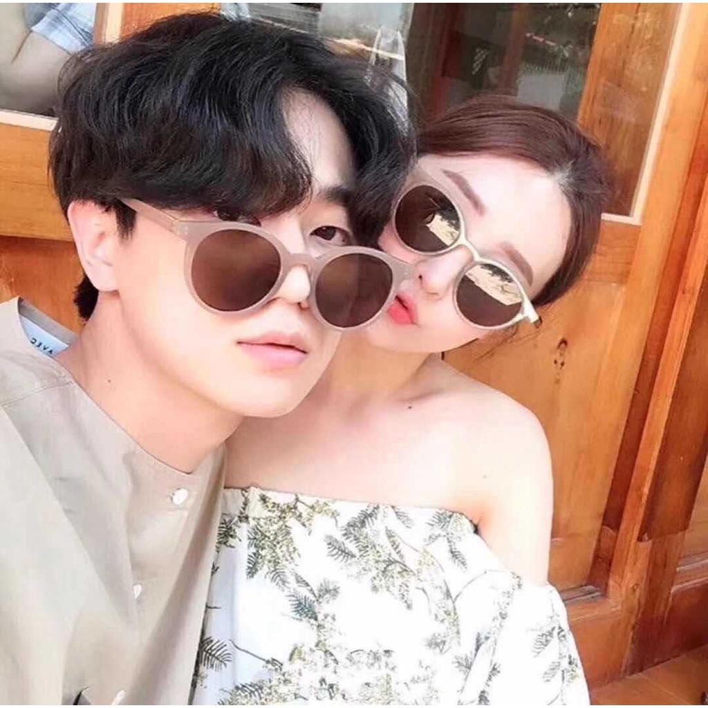 Kính mát nam nữ mắt tròn chống tia UV thời trang phong cách Ulzzang đẹp cute giá rẻ Hottrend HANASO...