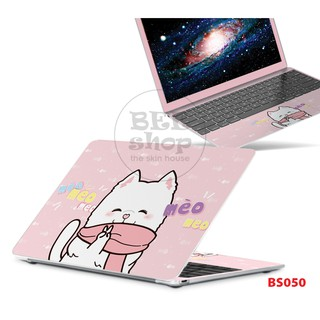 Skin dán laptop mèo cute cho Macbook/HP/ Acer/ Dell /ASUS