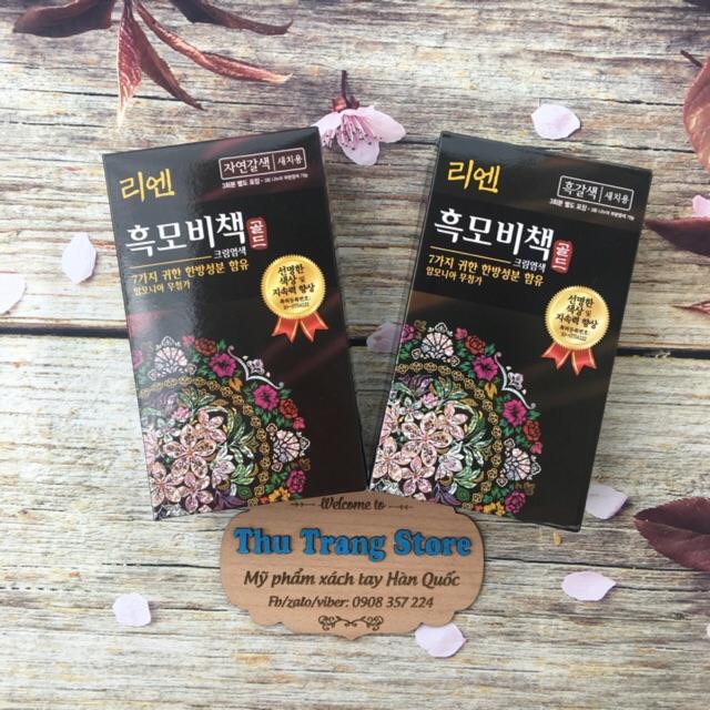 Thuốc nhuộm tóc phủ bạc Reen - chứa thành phần đông y/thảo dược - thuốc nhuộm dạng gội siêu tốc - 2853393 , 499678035 , 322_499678035 , 140000 , Thuoc-nhuom-toc-phu-bac-Reen-chua-thanh-phan-dong-y-thao-duoc-thuoc-nhuom-dang-goi-sieu-toc-322_499678035 , shopee.vn , Thuốc nhuộm tóc phủ bạc Reen - chứa thành phần đông y/thảo dược - thuốc nhuộm dạng