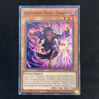 Thẻ bài Yugioh – Unchained Twins – Sarama – ETCO-EN029 – Common 1st Edition