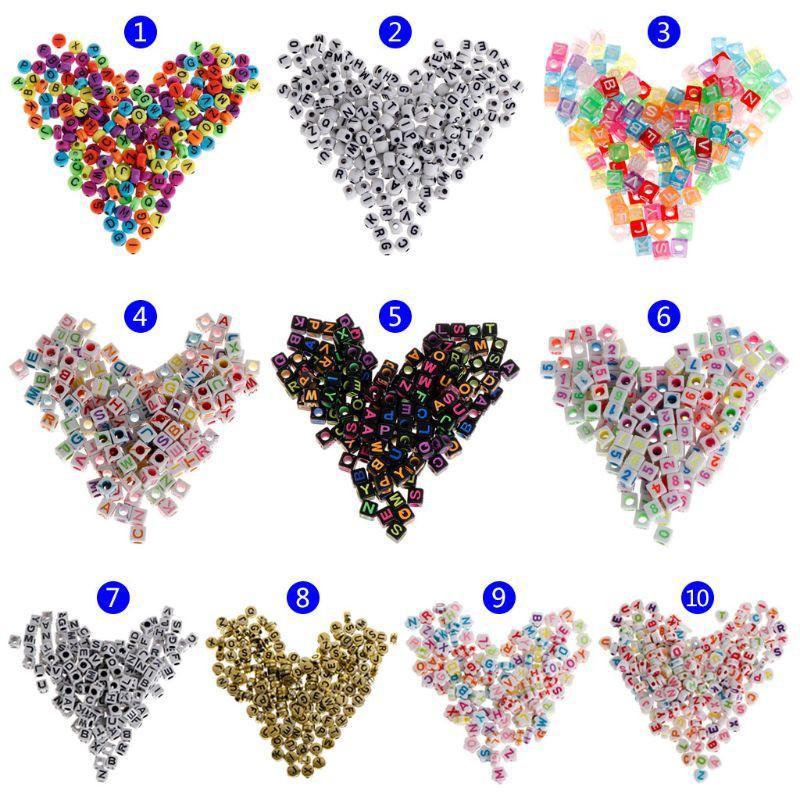 150 hạt nhựa Acrylic xâu chuỗi làm vòng đeo tay và dây chuyền