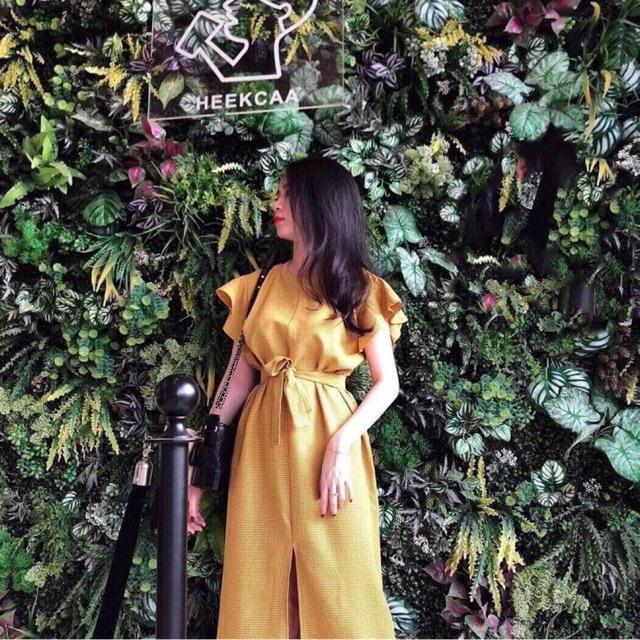 Váy Caro Vàng Cánh tiên