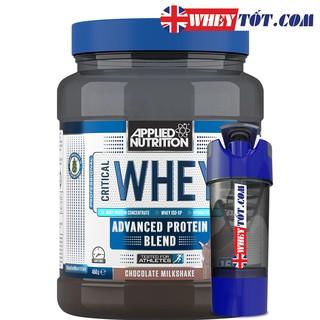 [Mã COSHOT8 giảm 10% đơn 350K] Whey Protein Combo Sữa Tăng Cơ Critical Whey Applied Nutrition & Bình lắc