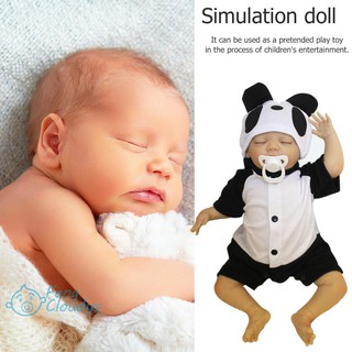 💕[IN STOCK/COD]💕NPK 48cm Panda Cloth Cotton Simulation Doll Lifelike Vinyl Reborn Baby Doll
