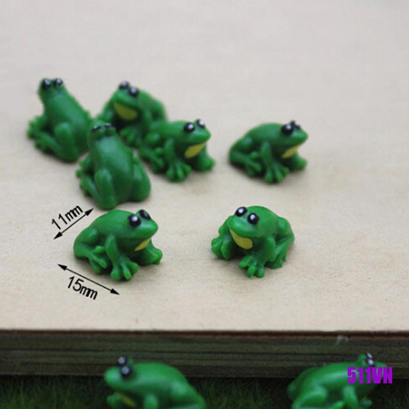 [LIY]2PCS Dollhouse miniature game scene model accessories mini frog
