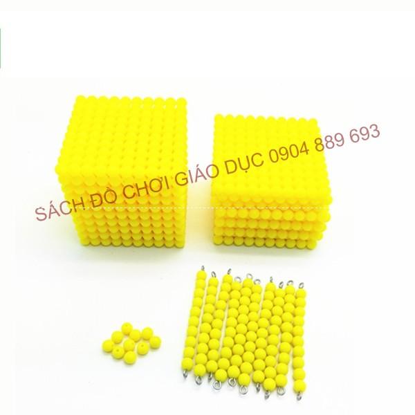 Khối 1000 hạt cườm vàng - Golden Bead Thousand Cube