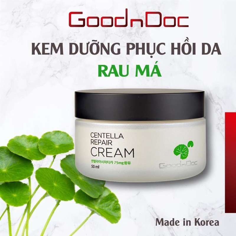 HÀNG NHẬP KHẨU] Kem Rau Má Dưỡng Ẩm Phục Hồi Giảm Thâm Nám Trắng Sáng Da  Chống Lão Hóa GoodnDoc Centella Repair Cream | Shopee Việt Nam