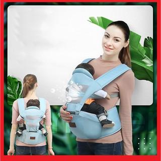 [Mã MKBCSALE1 giảm 8% đơn 250K] 🍁 Địu em bé 4 tư thế có đỡ cổ [có ghế chống gù cho bé] điệu trẻ em