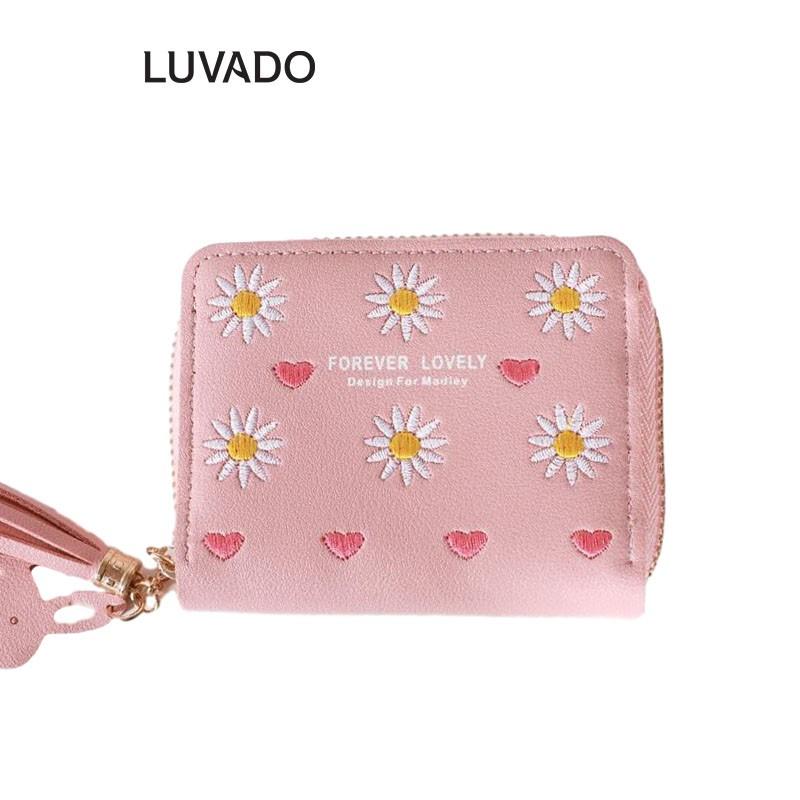 Ví nữ thời trang ngắn cầm tay mini đẹp MADLEY cao cấp nhiều ngăn nhỏ gọn bỏ túi LUVADO VD420