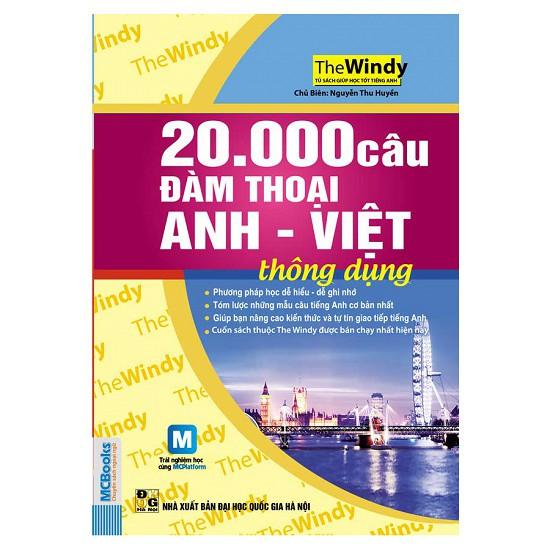 Sách -20.000 Câu Đàm Thoại Anh - Việt Thông Dụng (Dùng Kèm App MCBooks)