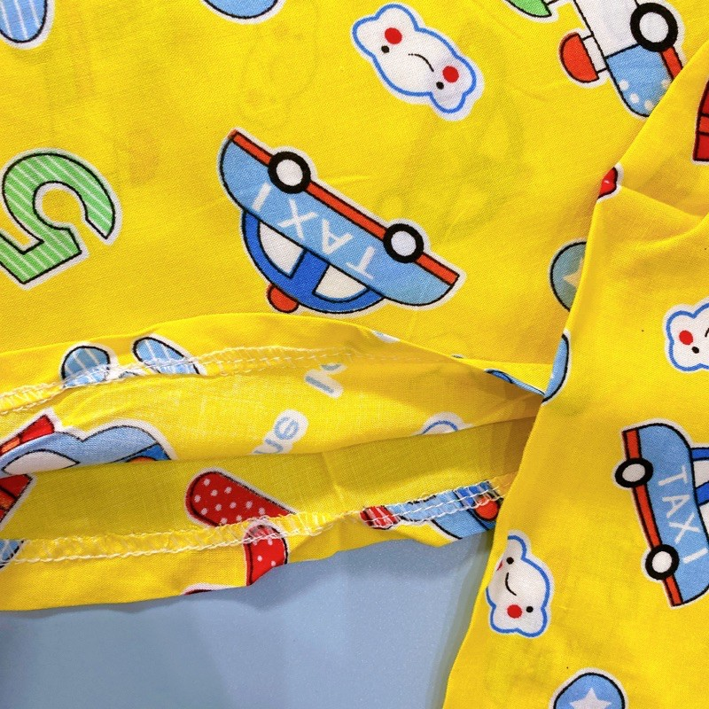 (SIZE 11) Bộ tole lanh (tôn) lanh lụa mặc nhà bé trai tay ngắn QUẦN ĐÙI họa tiết dễ thương 25-28 kg, bộ hè cho bé