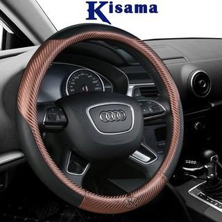 Bọc vô lăng KISAMA chính hãng chất liệu carbon kết hợp da cao cấp mẫu CB01 thumbnail
