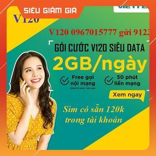 Sim 4G Viettel V120 nghe gọi vào mạng tẹt ga