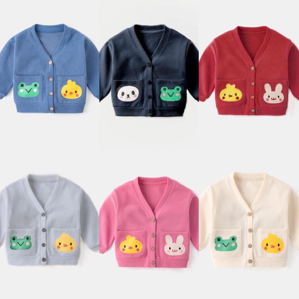 Áo len Cardigan cho bé 8-18kg QATE442, áo khoác bé trai, bé gái Superkids