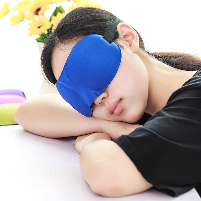 (Hàng Mới Về) Mặt Nạ Ngủ Che Mắt Màu Đen Tiện Dụng Khi Đi Du Lịch