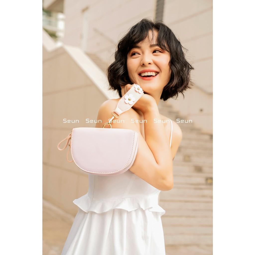 Túi Xách Nữ Thời Trang Hàn Quốc Gắn Hoa Dễ Thương, Sang Chảnh Cecibag