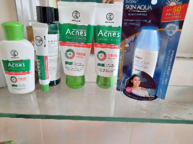 Đánh giá sản phẩm Bộ sản phẩm chống nắng ngừa mụn Sunplay Acnes (Sữa chống nắng 25g + Kem rửa mặt 100g + Dung dịch 90ml + Gel ngừa mụn 18g của daohoa08102002