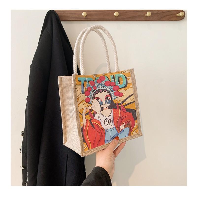[Tp.HCM,Túi Xinh ,Siêu Hot,Hàng thật đẹp hơn Ảnh]Túi Xách Cói Vuông - Túi đựng mỹ phẩm - Túi Xách Nữ Vintage Siêu Hot.