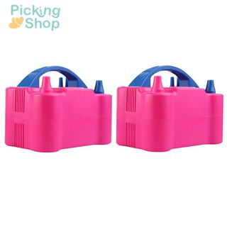 ❉ Portable Double Hole Inflatable Electric Inflator Air Balloon Blower Pump