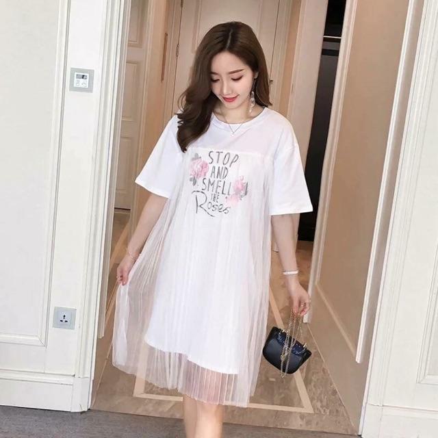 1009530487 - Váy đầm nữ 2 lớp size XL cho ng béo hoặc bầu bí