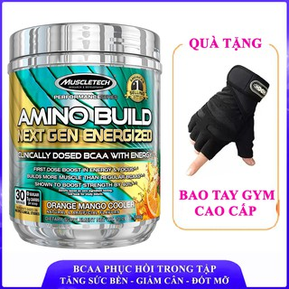BCAA Amino Build Next gen hương Cam Xoài của Muscle Tech hộp 30 lần dùng tăng sức bền, sức mạnh, đốt mỡ, giảm cân thumbnail