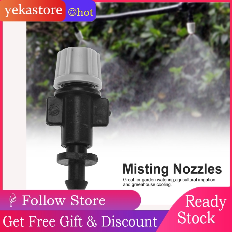 50pcs/set Misting Nozzles Sprinkler Head Atomizer for Garden Drip