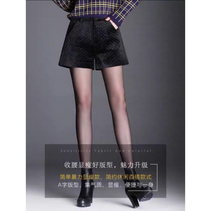 com bo quần sooc nhung siêu xinh