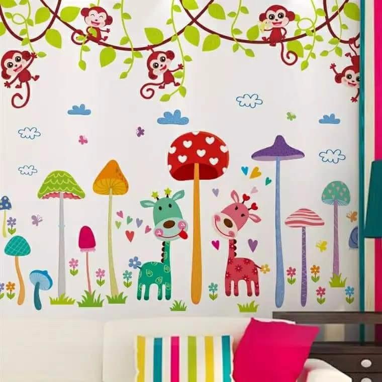 Decal dán tường combo khu vườn nấm và khỉ đu dây - 3536388 , 1049776368 , 322_1049776368 , 64000 , Decal-dan-tuong-combo-khu-vuon-nam-va-khi-du-day-322_1049776368 , shopee.vn , Decal dán tường combo khu vườn nấm và khỉ đu dây