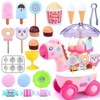 Simulation Small Carts Girl Mini Candy Cart Ice Cream Shop Supermarket