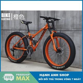 Xe đạp thể thao bánh béo Foreknow 24inch 26inch 4.0 ,24 Tốc độ - Thương hiệu đài loan - Bảo hành 2 năm thumbnail