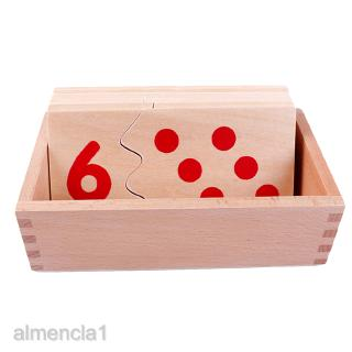 Montessori Number 1-10 Matching Puzzles Toy, for Kids Children Education