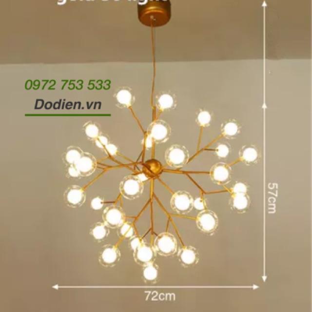 Đèn chùm hera phòng khách 36 bóng tròn 2 lớp