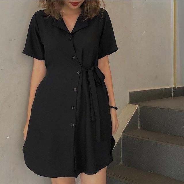 Đầm đen Hebe Dress