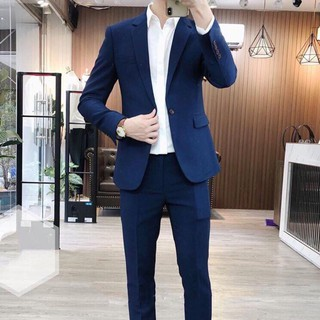 [BIG SALE] Bộ vest nam màu xanh than, màu đen đẹp, trẻ trung, sang trọng