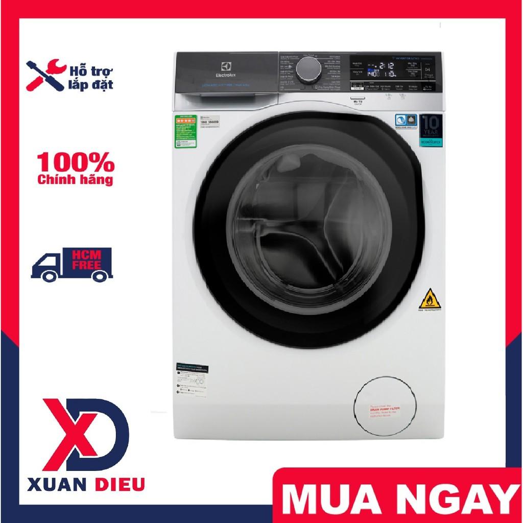 Máy giặt sấy Electrolux Inverter 11kg - Khóa trẻ em Giặt nước nóng Giặt hơi  nước Hẹn giờ giặt xong sấy chính hãng