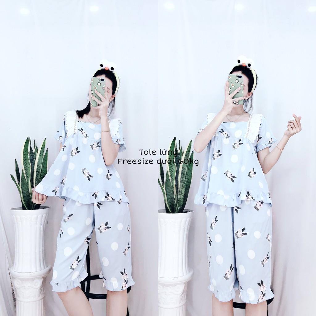 Đồ Bộ Nữ Pijama Mặc Nhà Kute Quảng Châu Tiểu Thơ Xinh Nhiều Màu