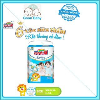 Bỉm,Tã quần Dán Goon Premium NB70 S64 M60 L50 XL46 M56 L46 XL42 XXL36 XXXL26 thumbnail