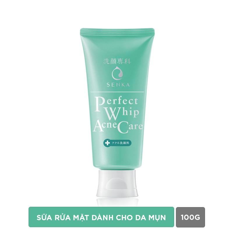 [COSMALL15 -12% ĐH250K]Sữa rửa mặt dành cho da mụn Senka perfect whip acne care 100g_15554