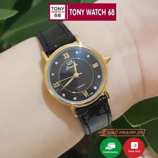 Đồng hồ nữ dây da thời trang đẹp QB chống nước mặt nhỏ chính hãng TonyWatch68 thumbnail