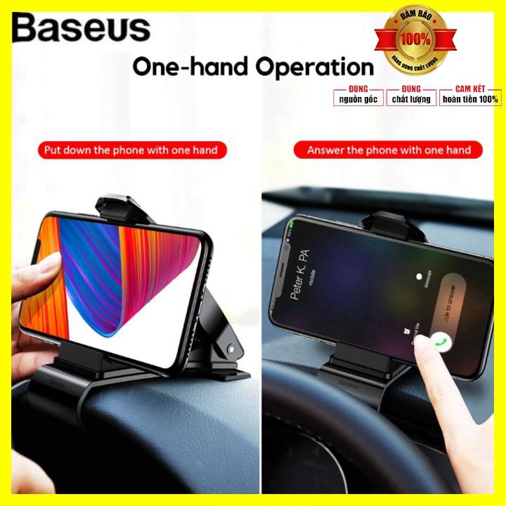 Giá đỡ điện thoại - Kẹp điện thoại gắn taplo ô tô nhãn hiệu Baseus SUDZ-01 - Bảo hành 6 tháng