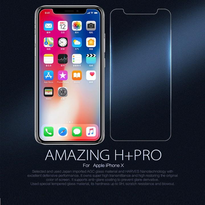 MIẾNG DÁN CƯỜNG LỰC IPHONE X NILLKIN H+PRO CHÍNH HÃNG