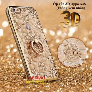 Ốp Lưng Oppo A3s Ốp lưng Pha Lê Vân 3D Kim Tuyến Viền Đính Đá – 3D025