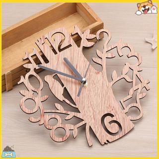 Đồng hồ treo tường hình cây và chim bằng gỗ