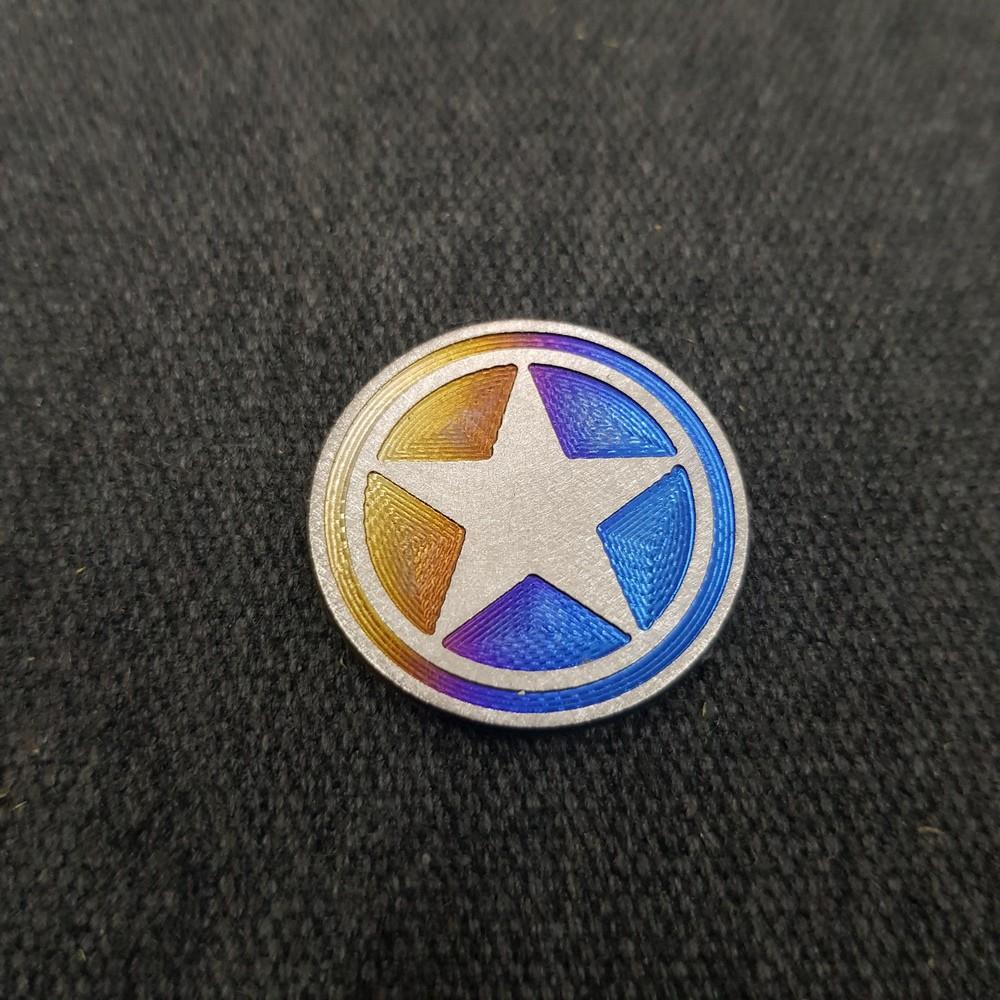 Tem dán TITAN logo tròn phong cách, tem MECHELYN, thích hợp dán trang trí xe máy