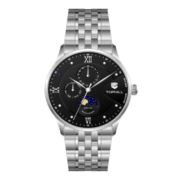 Đồng hồ Nam chính hãng TOPHILL TW085G - Dây thép - kính Saphire
