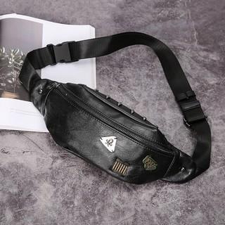 Túi da đeo chéo hông thiết kế thời trang cho nam