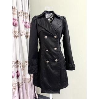 Áo khoác măng tô Hàn Quốc siêu đẹp màu đen