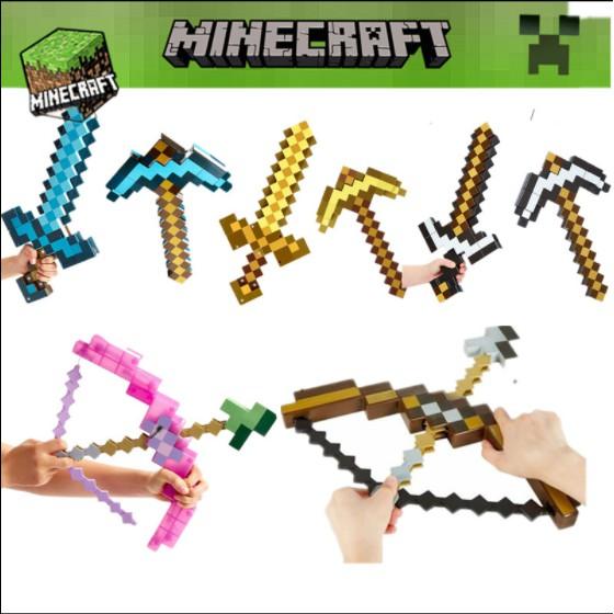 💎💎[Hot Hot] Đồ chơi Minecraft những dụng cụ chính hãng💎Kiếm biến hình minecraft💎Cung tên Minecraft