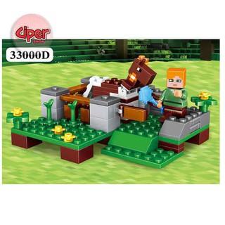 ( Hàng ORDER ) – [Nhập mã TOYJULY giảm 10% tối đa 20K đơn từ 99K]Lego minecraft Mô hình lắp ráp 4in1 390 chi tiết